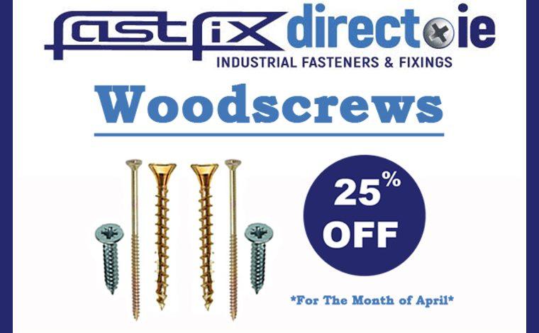 Woodscrews 25% off